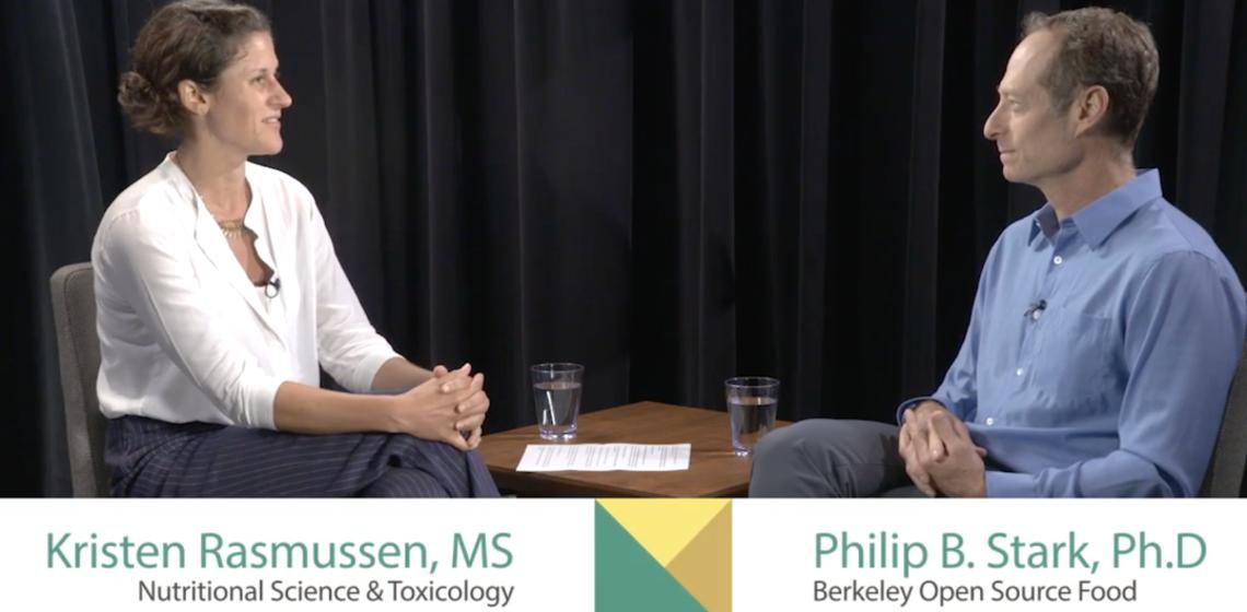 Professor Kristen Rasmussen de Vasquez interviewing Philip Stark.
