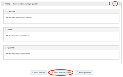 creating a question group in bcourses quizzes